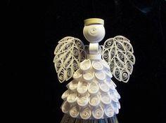 2010 All White Angel Ornament via Etsy
