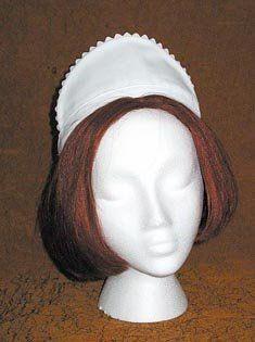 Amazon.com: White Rick Rack HeadPiece Cap Hat w/ Headband for Housekeeping Maid Waitress Uniform: Everything Else