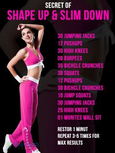 Secret of shape up & slim down. #fitness #health #workouts #Exercise