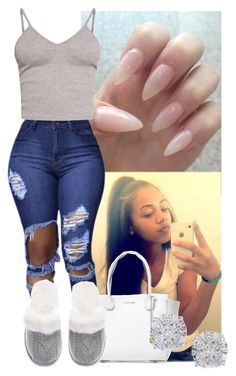 """23"" by akjaylin ❤ liked on Polyvore featuring Michael Kors, BasicGrey, Victoria's Secret and Effy Jewelry"