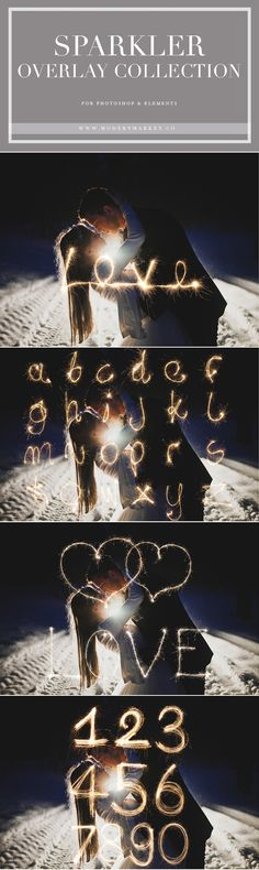 SPARKLER OVERLAYS!!! How clever are these?! This one includes 4 overlays, complete alphabet, numbers, hearts and love. The possibilities are endless!