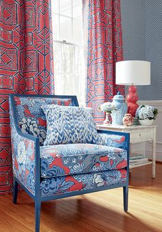 Shoji Panel drapes Honshu fabric on the chair-all from the Dynasty collection.