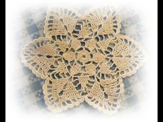 ▶ Вязание крючком. Салфетка. Tablecloth crochet. - YouTube
