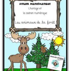 Ateliers-Mathématiques-Heure AM-Animaux de la forêt-Caroline Gingras Créations Creations, Comics, Reading, Maths, Writing, Art, Atelier, Products, Art Background