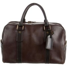 Pre-owned Louis Vuitton Utah Carryall Weekender ($1,295) ❤ liked on Polyvore featuring men's fashion, men's bags, brown, mens leather weekender bag, mens weekender bag, mens leather overnight bag, mens bags and mens overnight bag