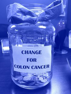 Collecting change to make a change!  Stop by to see the team at Shore Thing Marketing and leave your change in our jar for #ColonCancerAwareness.    All month the team will be collecting coins to donate to Colon Cancer Research.    #blueforbarb #cureCC