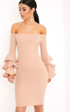 Shop our range of women's dresses, from basic dresses to occasion dresses and everything in between. Shop dresses for women at PLT. Party Dresses For Women, Holiday Dresses, Nude Dress, Dress Up, Dress Outfits, Fashion Dresses, Pink Fashion, Midi Dress With Sleeves, Going Out Dresses