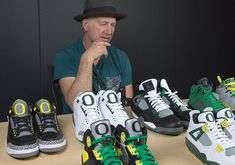 Tinker Hatfield talks to Nike SNKRS about the Air Jordan Oregon PE history  as we get a great look at some of the most iconic Duck colorways to date. 06a83cba4