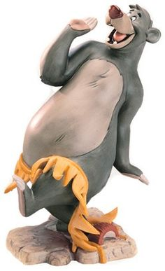 "WDCC - Baloo From the movie classic Jungle Book, porcelain figurine is 6 3/4″ tall. ""Hula Baloo"""
