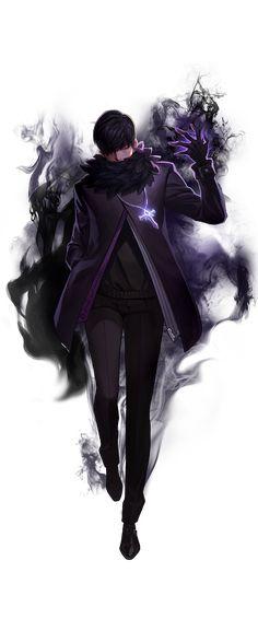 Dimitri  Black & Dark Purple Lighting