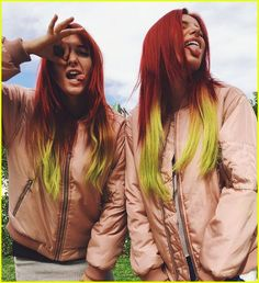 bella thorne dyes bright red hair 01