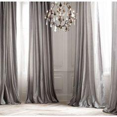 PLATINUM SILK curtain, dupioni silk, grey, silver, window dressing, draping, home decor, interior decor, window treatment