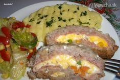 Roláda z mletého mäsa (fotorecept) - recept   Varecha.sk Sausage, Food And Drink, Eggs, Beef, Breakfast, Czech Republic, Kitchens, Drinks, Red Peppers