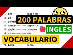 100 palabras importantes en inglés y su significado en español con pronunciación [Vocabulario 8] - YouTube