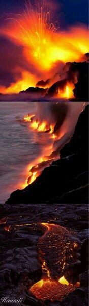 Flujo de lava en Hawai..