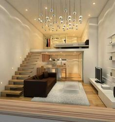 Amazing Interior Design Ideas for Small House. If your living room design is small and may make the dream house design for your home and living room not yet realized, do not worry! The small house . Loft Design, Tiny House Design, Design Case, Apartment Interior, Apartment Design, Interior Stairs, Loft Bedroom Decor, Loft Bedrooms, Apartment Bedrooms