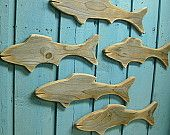 Starfish Weathered White Wood Sign Star of the Sea. $22.00, via Etsy.