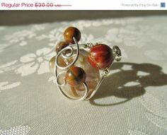 ON SALE Wire wrapped adjustable Ring Piccasso by JosiannesJewelry, $25.50