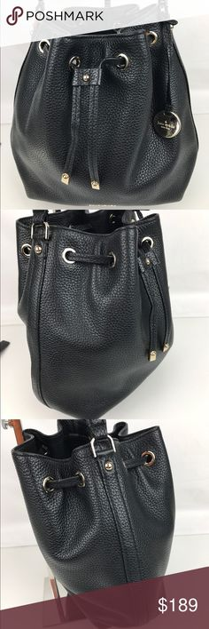 """Kate Spade York Small Renna Bucket Bag Authentic. New, no tag.   Effortless accessorizing is a cinch with kate spade new york's polished, pebbled leather bucket bag in tow. It's roomy enough to tote must-haves and can be carried as a crossbody with the optional adjustable strap. 8.5""""W x 4""""D x 10.5""""H; 4.75"""" handle drop, 20"""" strap drop. Style PXRU6274. RB788  Thank you for your interest!   PLEASE - NO TRADES / NO LOW BALL OFFERS / NO OFFERS IN COMMENTS - USE THE OFFER LINK :-) kate spade Bags…"""