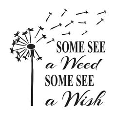 Primitive STENCIL**Some see a weed/Some see a x Dandelion for Painting Signs, Airbrush, Crafts, Wall Art and Decor Silhouette Cameo, Silhouette Projects, Flower Silhouette, Silhouette Design, Price Quote, Sign Quotes, Qoutes, Vinyl Quotes, Vinyl Projects