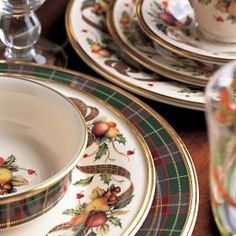 Lenox Holiday Tartan Dinnerware!                                                                                                                                                                                 More