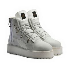 abd0b772854c1a Introducing  the Sneaker Boot White from the FENTY PUMA by Rihanna  collection. Its stacked