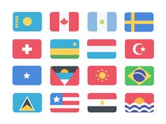Free 195 Flat Flags by Muharrem Şenyıl
