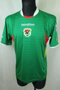 BOLIVIA Football Team 2009/2010 Shirt Home Jersey Marathon sz M Medium (111) #Marathon #Bolivia