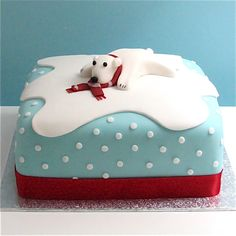 christmas cakes polar bear - Google Search