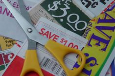 Money Saving Tip: Don't clip coupons on things you don't really need. If you clip coupons, prioritize based on your budget!