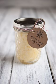 DIY Peppermint Sugar Scrub