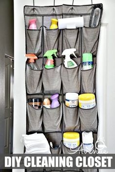 24 Tiny Apartment Renovation On A Budget Over The Door Organizer, Hanging Shoe Organizer, Shoes Organizer, Diy Cleaning Products, Cleaning Supplies, Cleaning Tips, Cleaning Checklist, Shoe Storage, Storage Spaces
