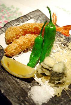 Okayama|Restaurant|酒菜屋・錦町 はぎ / 岡山のグルメ【えざかや】|衣に玄米を使ったサクサク食感がはまる エビの玄米フライ