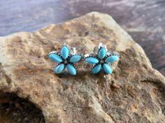 Kawaii Handmade Blue Flower Stud Earrings With 925 Silver &…