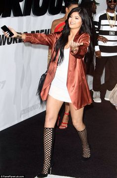 Kylie Jenner - NastyGal bodycon dress