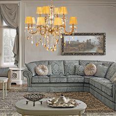 Κλασικό και διαχρονικό φωτιστικό με χρυσό και μελί κρύσταλλα! Couch, Furniture, Home Decor, Settee, Decoration Home, Room Decor, Sofas, Home Furnishings, Sofa