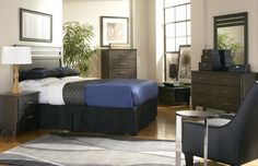 The Dakota Skyline Queen Bedroom has a contemporary style and balanced design. Used Bedroom Furniture, Used Furniture For Sale, Discount Bedroom Furniture, Furniture Outlet, Clearance Furniture, 5 Piece Bedroom Set, Bedroom Sets, Bedding Sets, Bedrooms