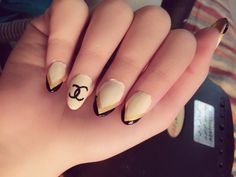 Channel inspired nail art