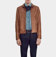 8ecf617707094e Brown Leather Bomber Jacket, Leather Jackets, Deerskin, Gucci Men, Leather  Men, Outfits, Man Shop, Clothes, Luxury Fashion