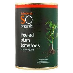 Sainsbury's organic plum tomatoes