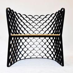 The unique pattern of the Koi Chair by Jarrod Lim is inspired by many of the urban surroundings found in Singapore, most notably the wrought iron gates and window grills seen on local houses and apartments. Modern Furniture, Sofa Furniture, Furniture Design, Wrought Iron Gates, Sofa Chair, Armchair, Take A Seat, Modern Retro, Cool Chairs