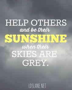 Spread Sunshine.