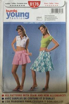Burda Young Fashion 8176 Misses Skirt Easy German Pattern Sizes 8-20 Uncut | eBay