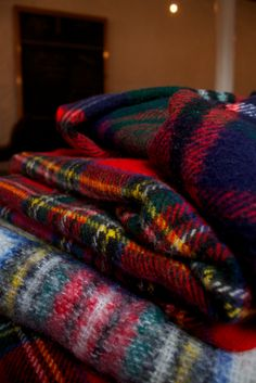 Cozy blankets!  - Love plaid blankets!