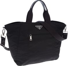Vela Nylon Tote Bag with Strap, Black (Nero) by Prada at Bergdorf ...