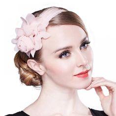 FS Fascinators For Women Elegant Pink Wedding Hat For Brides Girls Flower With Feather Pillbox Headband Cocktail Dress Hats Sombreros Fascinator, Green Fascinator, Fascinators, Pink Wedding Hats, Wedding Party Dresses, Pink Cocktails, Green Hats, Hats For Men, Ladies Hats
