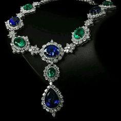 @thejewellcloset . Stunning  Sapphire ,  Diamond & Emerald  necklace