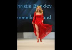 Christie Brinkley in Pamella Roland - The Heart Truth's Red Dress Collection 2012 Fashion Show