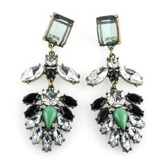Keen on Green Earrings, SGD12.90. These jewel encrusted earrings are great for days when you can't think of what to wear, yet need to dress to impress! Match with our Keen on Green Necklace.Do check out our shop trystjewels.com for more designs.