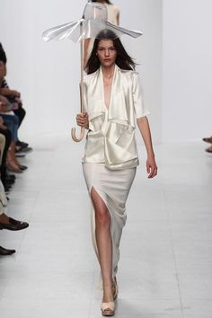 Hussein Chalayan, spring/summer 2014 - this simply structured look would suit a low key ceremony.